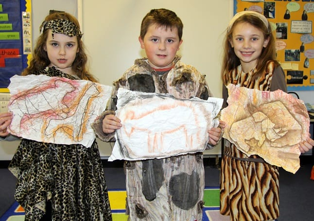 Upton Pupils Go Back To The Stone Age Isle Of Thanet