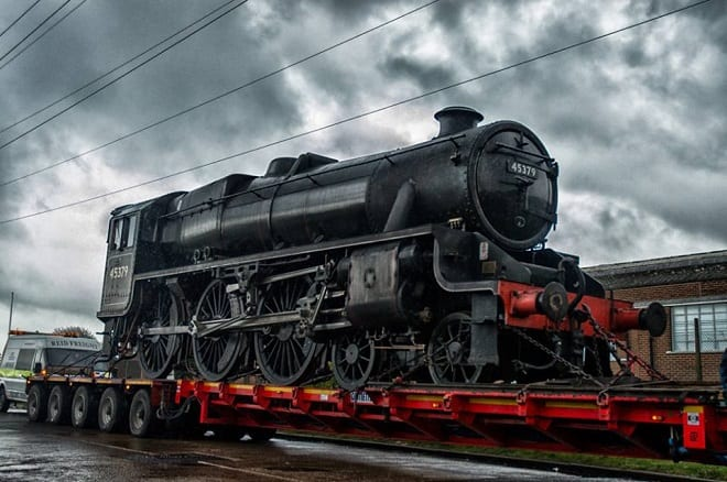 Black 5 loco arrives in Westwood for storage – The Isle Of